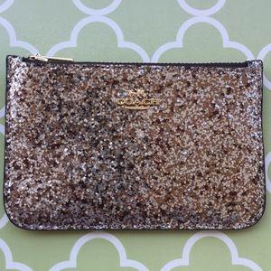 NWT Coach Zip Card Case /Change purse in Glitter ✨